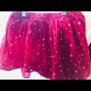 GAP Bottoms - Gap kids flippy flouncy star skirt in red & white